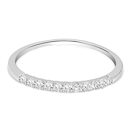 Natürlicher Diamant 0.21ct Diamant Ring Zum Frau I2-Klarheit 9k Gold Diamant Schmuck Geschenke Zum Frau G-H Farbe 100% Echt Diamant (1ct Diamant Verlobungsringe)