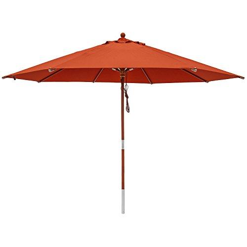 anndora® Sonnenschirm Gartenschirm Marktschirm 3 m rund wasserabweisend - mit Winddach Terracotta