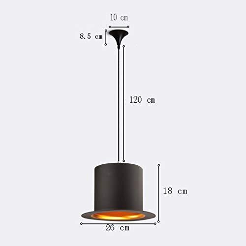 deng Moderne aluminium kunst pendelleuchte, mode persönlichkeit industrielle beleuchtung herr hut licht bar shop clothing engineering pendelleuchte (a + +),B