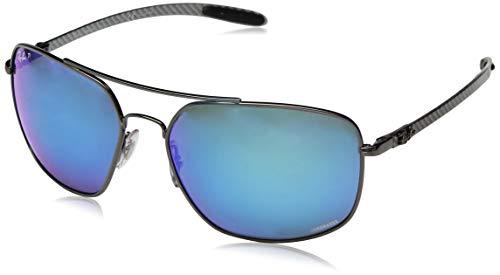 31f2c28881 Ray-Ban Men s RB8322CH 004 A1 Chromance Polarized Square Sunglasses  Gunmetal 62.0 mm