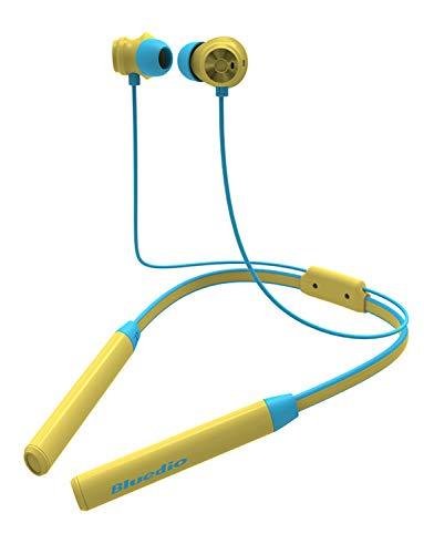 Bluedio TN2 Función Anti-Sudor Auriculares Bluetooth 4.2, con microfono, Cascos inálambrico Deportivos, Ruido de Cancelación, Estéreo, Utilizado por más de 12 Horas(Amarillo)