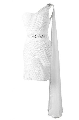 Sunvary elegante Chiffon Bateau A-Line-Maglia A maniche corte, per damigella d'onore Abito per feste Red