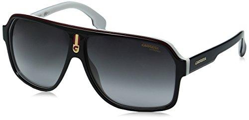 Carrera Unisex-Erwachsene 1001/S 9O 80S Sonnenbrille, Schwarz (BLACK WHITE/DARK GREY SF), 62