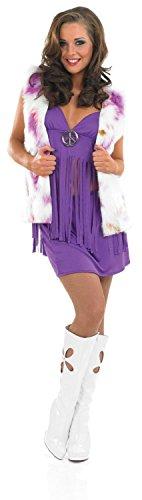 Damen Kostüm Hippie Chic für 60er Fancy Kleid Erwachsene Damen Große - Hippie Chic Kostüm