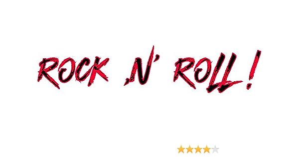Rock N Roll Aufkleber Sw Rot Sticker Autoaufkleber Musik Bands Auto