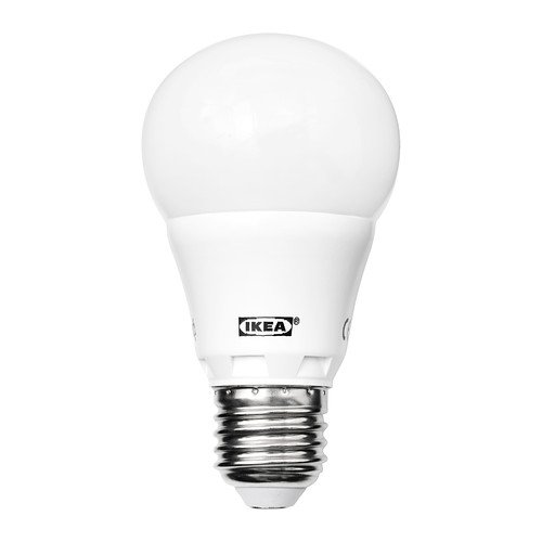 IKEA ledare - Bombilla LED E27, blanco opal mundo - 400 lm