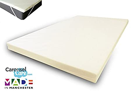 Orthopaedic Hypoallergenic Memory Foam Mattress Toppers | Removable Cotton Cover | Available In All Standard UK Sizes | Available In 1
