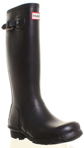Hunter Wellies Wellington - Stivali da pioggia, per donna, Nero (nero), 37