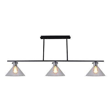 RBB Personalisierte Dekorative Beleuchtung Sdkky-Flush Mount Modern/Modern Feature für LED Holz/Bambus Wohnzimmer Esszimmer Küche Arbeitszimmer/Büro Flur,110-120V (120-volt-kette)