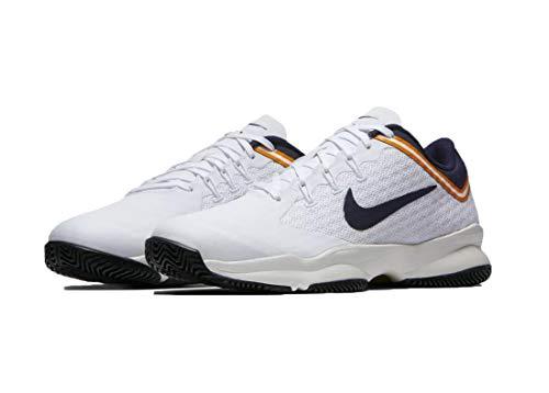 Nike Herren Tennisschuh Air Zoom Ultra Hard Court Sneakers, Mehrfarbig (White/Blackened Blue/Light Cream 001), 42.5 EU