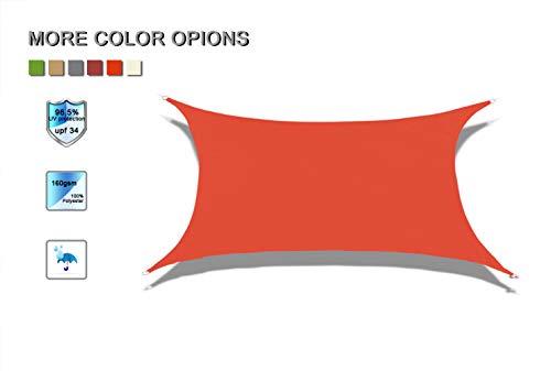 Laxllent Voiles d'Ombrage Anti UV Toile Solaire Voile Triangulaire Tissu imperméable à l'eau en Polyester pour Voiture,Restaurant,Jardin