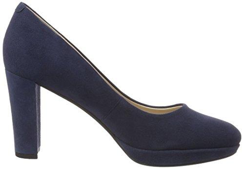 Clarks Kendra Sienna, Escarpins Femme Bleu (Navy Suede)