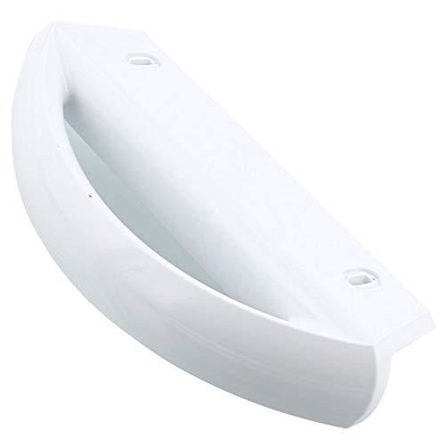 Spares2go Türgriff für Privileg Kühlschrank Gefrierschrank (weiß)