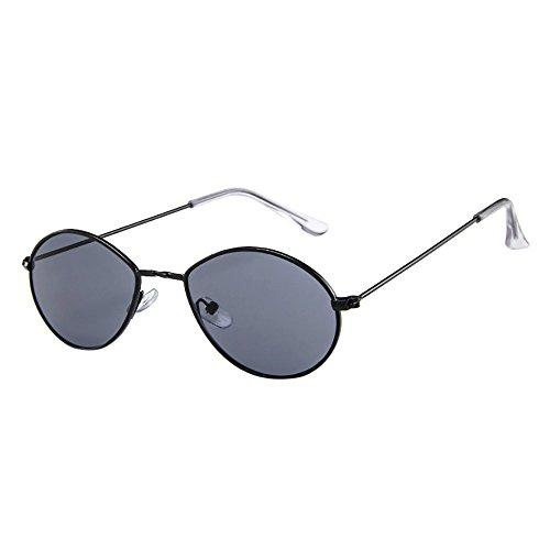 KUDICO Unisex Sonnenbrille Wassertröpfchen Ovale Form Polarisierte Linsen Vintage Metall Gestell Hippi Brille 400UV Outdoor Brillen (B, One Size)
