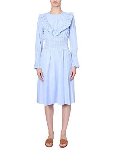 Tory Burch Damen 56974412 Hellblau Baumwolle Kleid