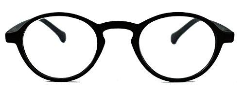 Retro Lesebrille Damen Herren Hornbrille im Vintage Stil OVR (48 matt schwarz 3.0 dpt) (Beste Nerd Kostüme)