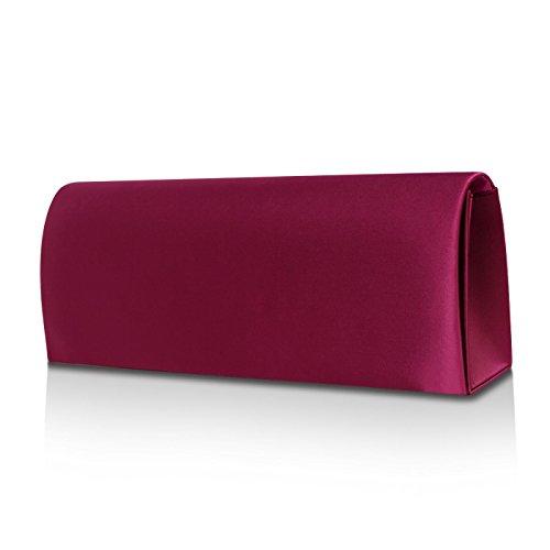 Glamexx24 Sac de soirée en satin embrayage sac à main de soirée de mariage Sac à bandoulière de la femme Pink