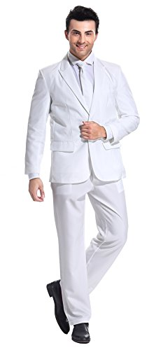 YOU LOOK UGLY TODAY Modisch Normaler Schnitt Herren Party Anzug Weihnachten Kostüme Festliche Anzüge Party Suits einheitliche Farbe (Zu Halloween Kostüme Finden Leicht)