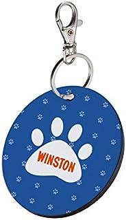 Sky Trends Round Shape Collar Locket/Pendant for Dogs & Puppy -897, Multicolour, Medium, 1 Count - Win