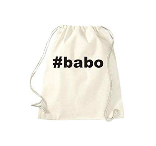 Turnbeutel #BABO Hashtag Gymsack Kultsack Natur