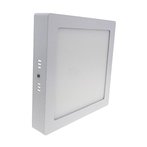 Cablematic - Panel LED cuadrado downlight superficie de 220mm 18W blanco frío día