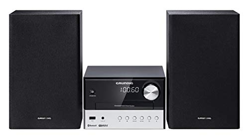 Grundig M 1000 BT Home audio micro system 30W Black,Silver - home audio sets (Home audio micro system, Black, Silver, 1diss, 30W, 180W, FM)