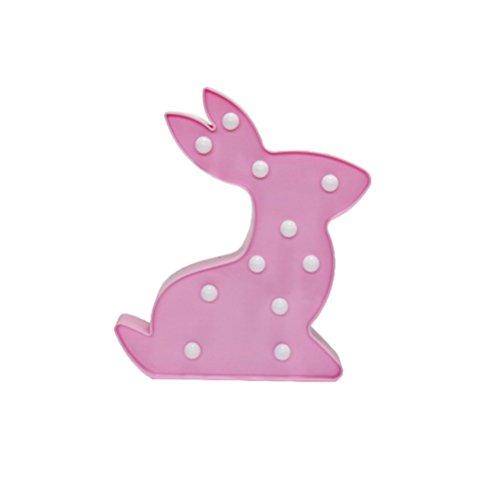 LEDMOMO LED Kaninchen Nacht Ligh 3W Hase Slide Control Zeichen Licht Wand-dekor Ligh Für Kinder (Rosa) - Beleuchtung Slide