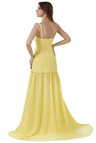 robe de soirée mousseline Jaune