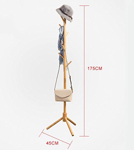 Garderobenständer Standing Coat Rack Baum Stilvolle Holz Hut Mantel Schiene Ständer Rack Kleidung Jacke Regenschirm Lagerung Aufhänger Organizer 175 cm (Weiß) (Color : D) - Standing Coat Rack