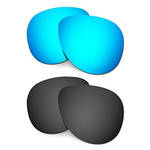HKUCO Verstärken Ersatz-Brillengläser für Oakley Elmont (Medium) Sonnenbrille Blau/Schwarz Polarisiert