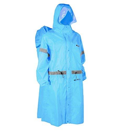 lane Regen Abdeckung Regenmantel Poncho Regen Cape für Outdoor Wandern Reisen Camping (Blau, XL) ()