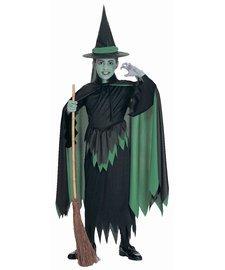 Böse Hexe des Westens Kostüm für Mädchen Halloween Verkleidung Medium (Hexe Kinder Böse Des Kostüm Westen)