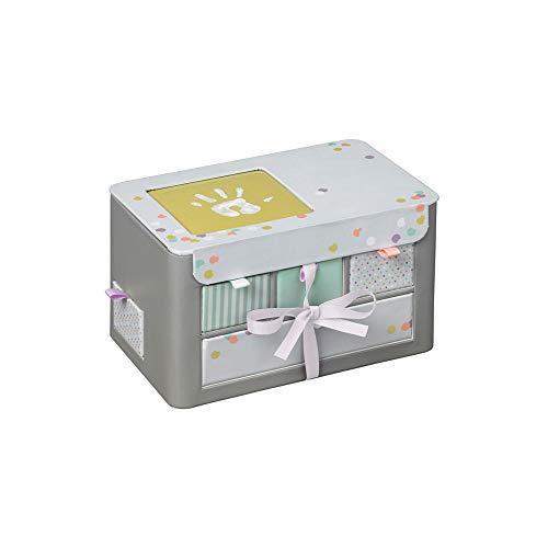 Baby art treasure box custodia portagioie con cassetti e scomparti per custodire i ricordi del tuo bambino