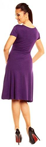 Zeta Ville - abito di maglina - manica corta - estivo vestito - donna - 108z Porpora