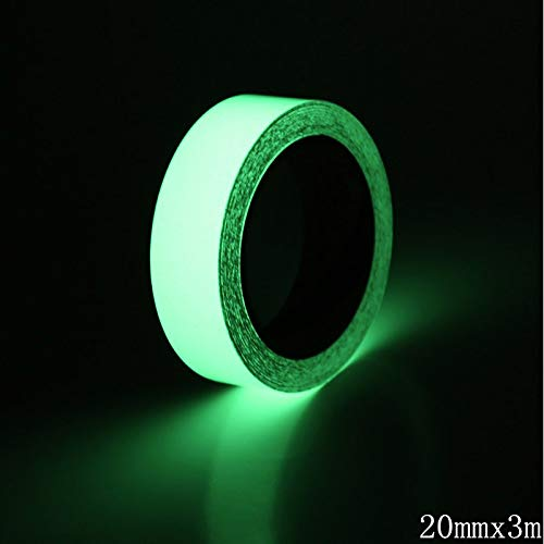 Top Outlet - 1 Roll 3m Brightness Green Luminous Tape Self Adhesive Fluorescent Tapes Glow In Dark Safety - Eggs Cover Soccer Track Valentine Lingerie Beads Bracelets Letters Utensils ()