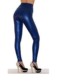 SODACODA® Leggings aspect cuir femme, plusieurs couleurs, métalliques