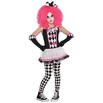 Mädchen Circus Bonbon Teen Kinder Clown Kostüm - -