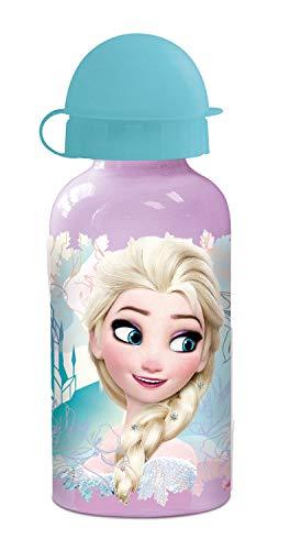 p:os 23898 - Trinkflasche Disney Frozen, Aluminium, 400 ml
