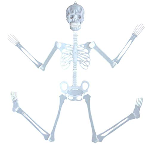 Igemy 35cm Luminous Skull Skeleton Körper Scary Halloween Spielzeug Spukhaus Tricky Prop (Bunt) (Scary Props Halloween)