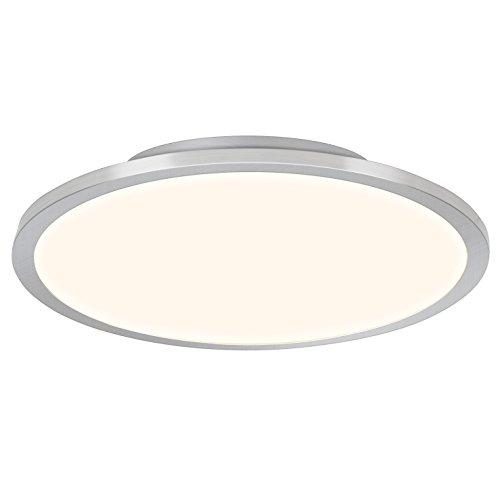 LED Panel 46W Deckenleuchte, Ø 60 cm rund, inkl. Fernbedienung, dimmbar, 3800 Lumen, 2700-6500K, Metall / Kunststoff, eisen