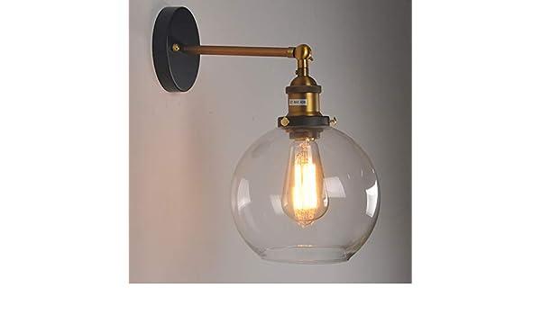 Applique in vetro eoliche industriali retro café illuminazione