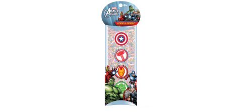FOCO fokustheorie Marvel Comics Avengers Loom Bands und Charm Pack (100 Bands, 6 Clips und 4 Charme) (Charms-pack)