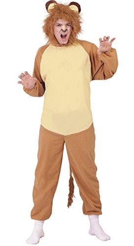 Wilder Löwe - Kostüm für Erwachsene Gr. M/L, - Wild Zebra Für Erwachsenen Tier Kostüm