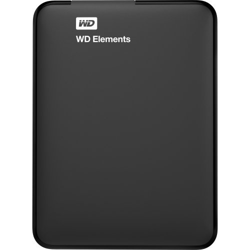 WD Elements - Disco duro externo portátil de 4 TB con USB 3.0, color negro + WD Grip Pack - Funda de disco duro para My Passport Ultra (incluye cable USB 3.0), cielo