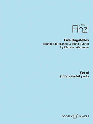 Fünf Bagatellen: Klarinette und Streichquartett. Stimmensatz.