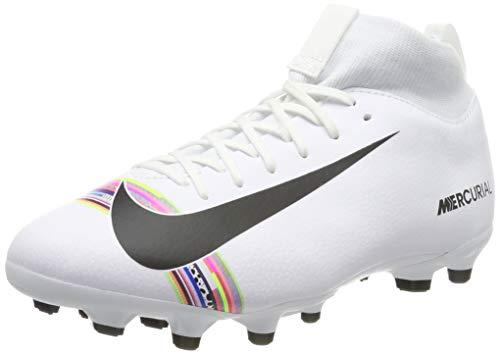 Nike Unisex-Kinder Sperfly 6 Academy Gs CR7 MG Futsalschuhe, Mehrfarbig (White/Black/Pure Platinum 000), 35.5 EU
