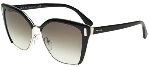 Prada Damen 0PR56TS 1AB0A7 57 Sonnenbrille, Schwarz (Black/Silver/Grey),