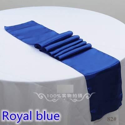 Weanorey Royal Blue Farbe Satin tischläufer hochzeitsdekoration für Moderne Hochzeit Hotel bankett Dekoration tischläufer30 * 275 cm 5 stücke