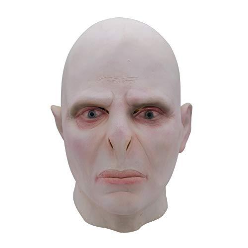 Erwachsene Lord Voldemort Cosplay Maske Harri Potter Cosplay Männer Fleischfarbe Vollkopf Latex Maske Halloween Kostüm - Lord Voldemort Kostüm Maske