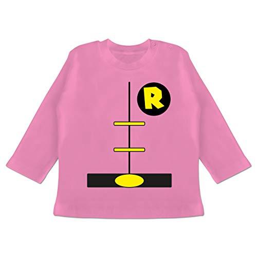 Karneval und Fasching Baby - Superheld Kostüm Kind - 12-18 Monate - Pink - BZ11 - Baby T-Shirt Langarm